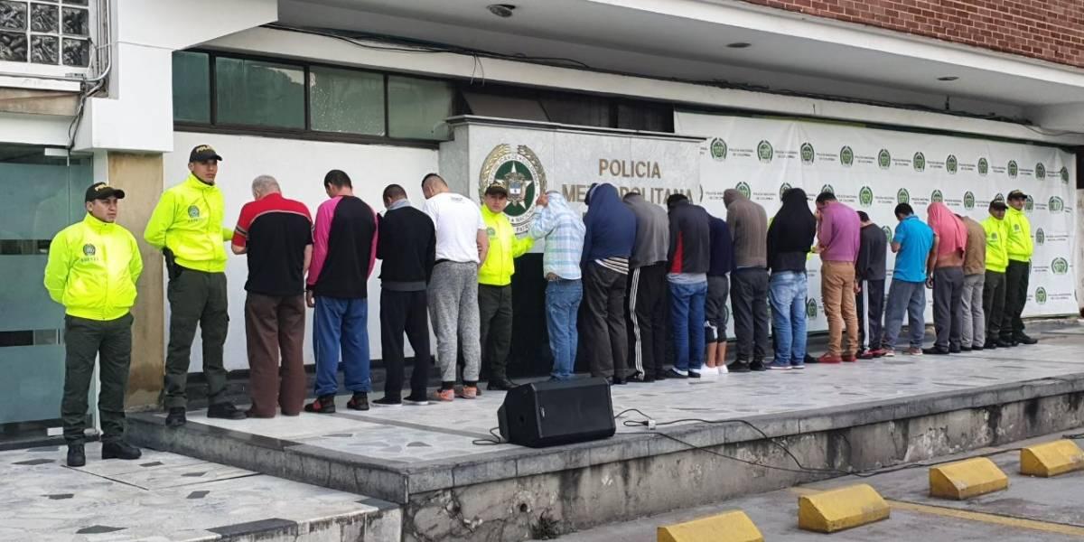 Capturan a 20 presuntos abusadores de niños y niñas en megaoperativo en Bogotá