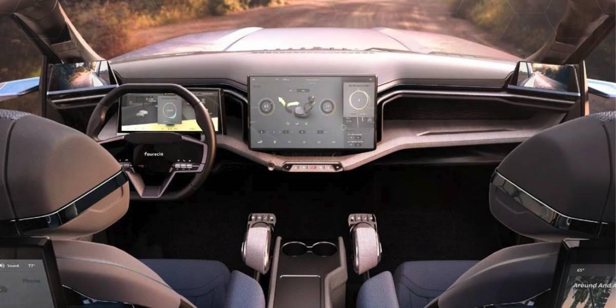 """Conocimos la """"cabina automovilística del futuro"""", con videojuegos, masajes y más"""