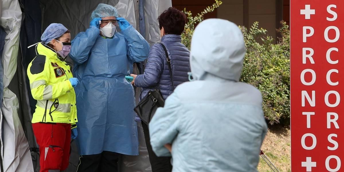 Coronavirus en Italia: viralizan fotos de enfermeras agotadas por atender a pacientes con COVID-19