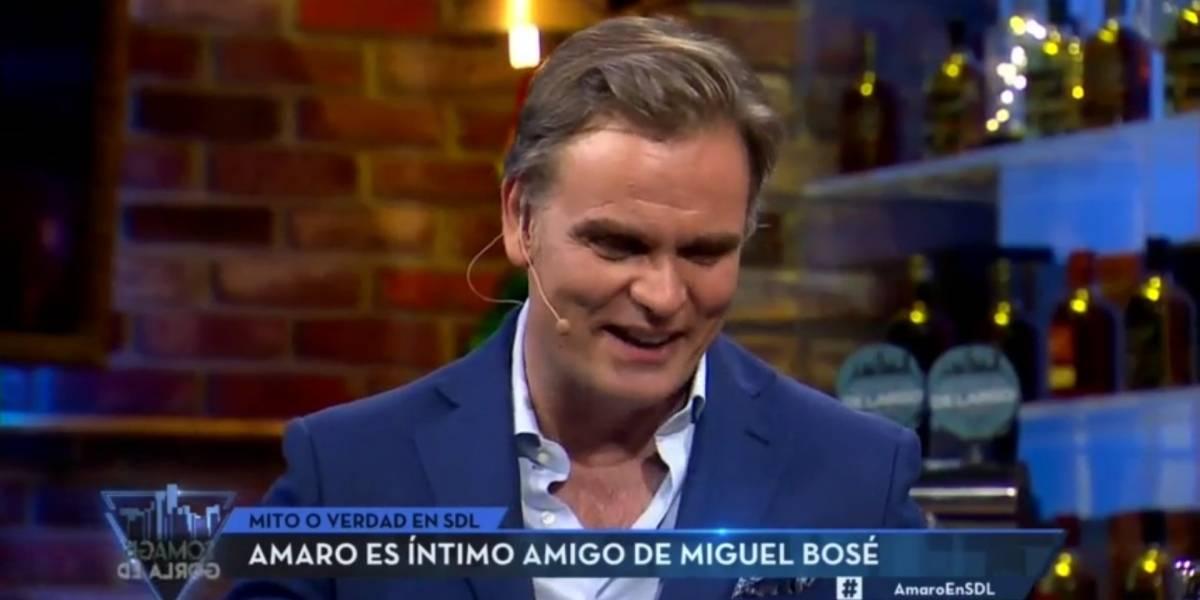 """Amaro Gómez-Pablos desclasifica encuentro con Miguel Bosé: """"Me pidió que estuviéramos juntos"""""""