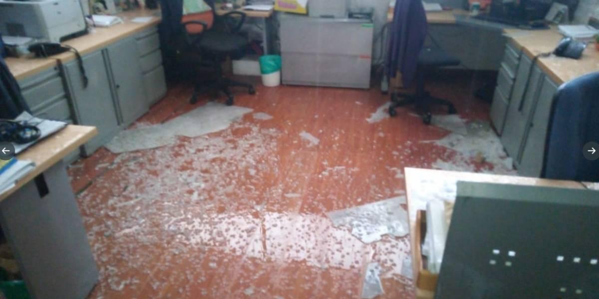 Granizada provocó graves daños en edificios de la Universidad Nacional