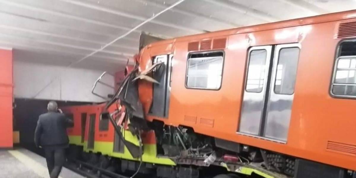 Choque de trenes del metro de Ciudad de México deja un muerto y 41 heridos
