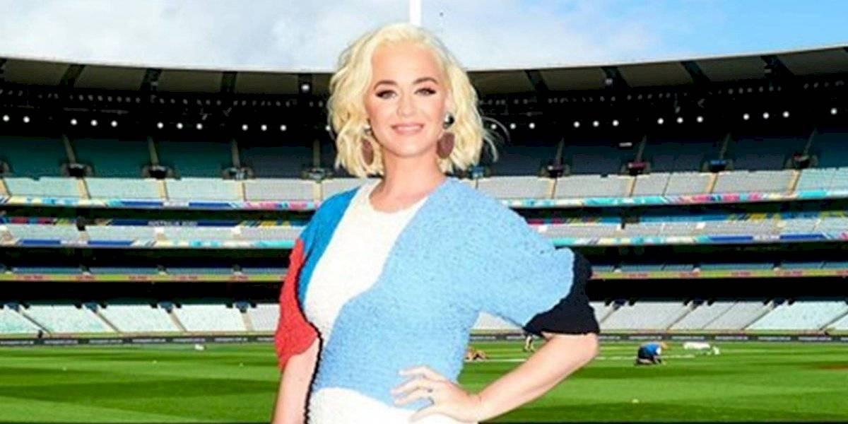 Katy Perry dio una pista sobre el sexo de su bebé durante un concierto