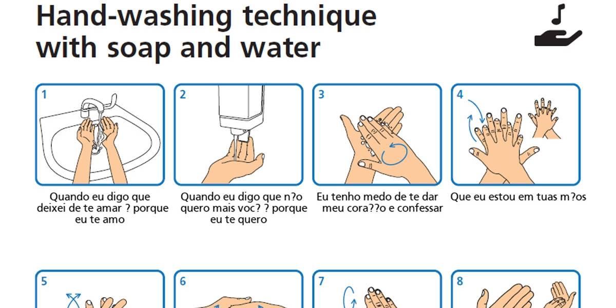 Coronavírus: Meme ensina a lavar as mãos ao som de hits da música