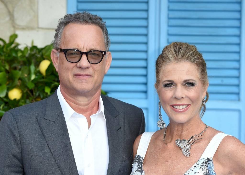Tom Hank y su esposa Rita