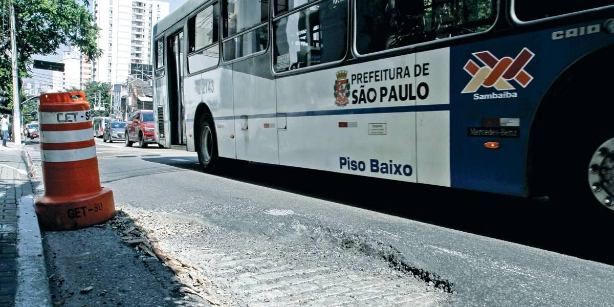 Começa obra em corredores de ônibus de São Paulo