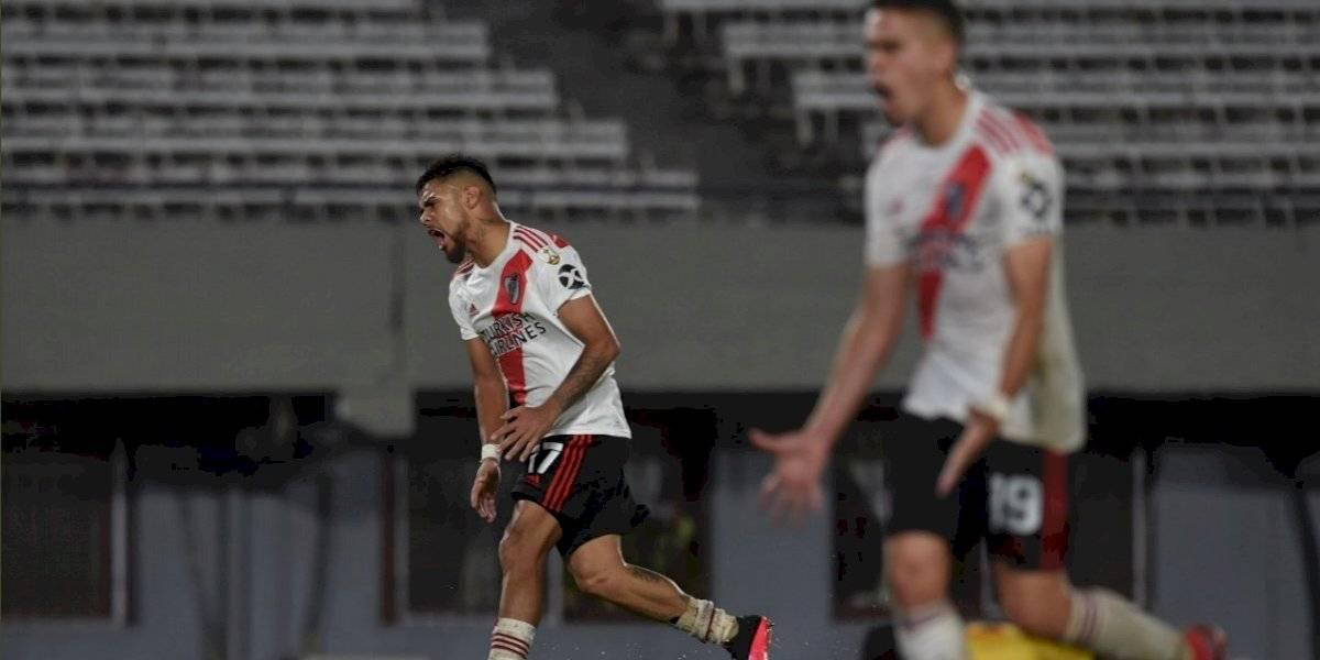 Paulo Díaz marcó su primer gol por River Plate en la estrepitosa goleada contra Binacional por Libertadores