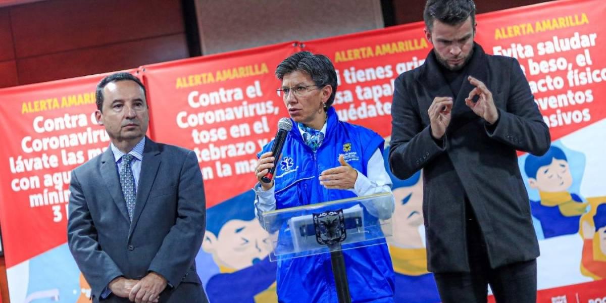 ¿Qué implica la declaratoria de alerta amarilla por coronavirus en Bogotá?