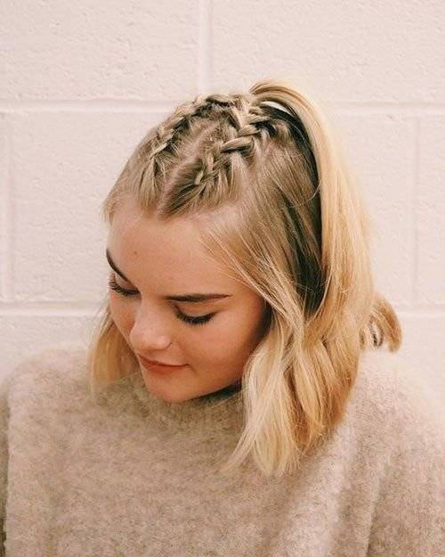 Peinados con trenzas para cabello mediano