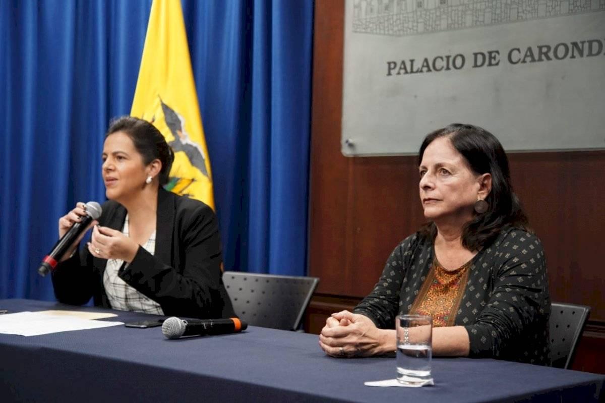 Rueda de prensa sobre coronavirus en Ecuador