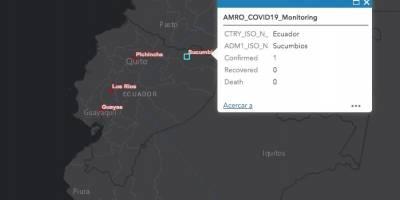 Mapa de la OMS detalla los casos de coronavirus en Ecuador