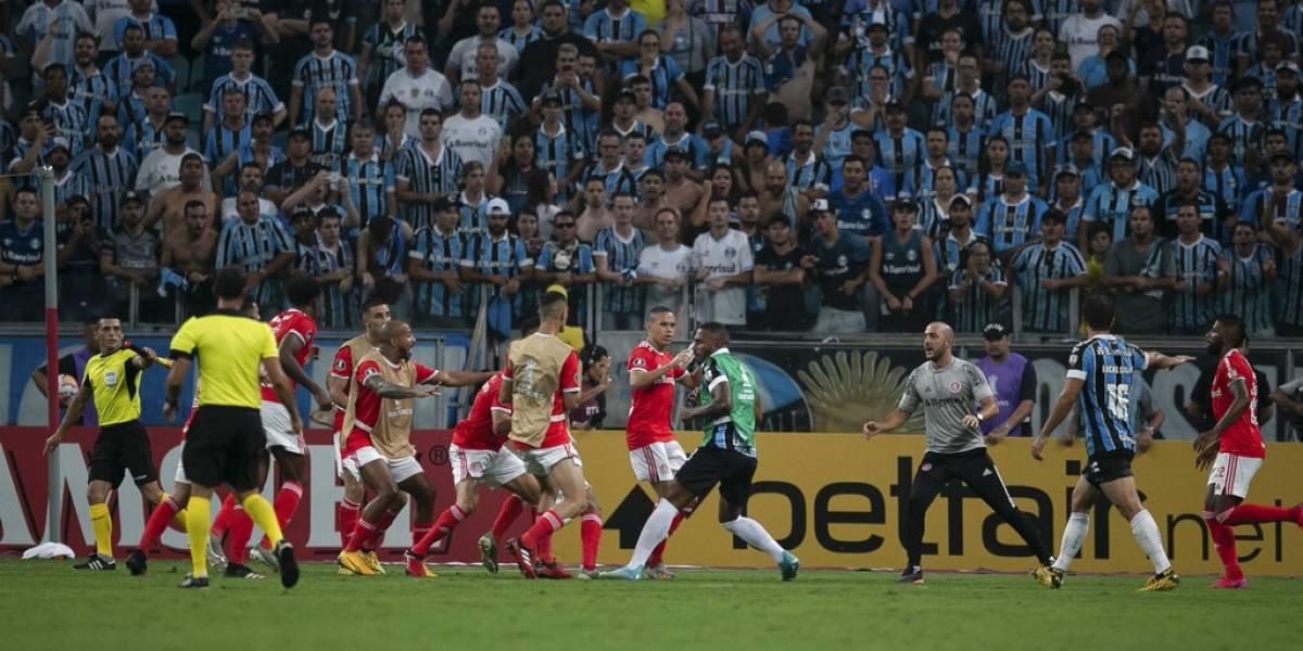 Esta es la Copa: El clásico entre Gremio e Inter por Libertadores terminó con batalla campal y ocho expulsados