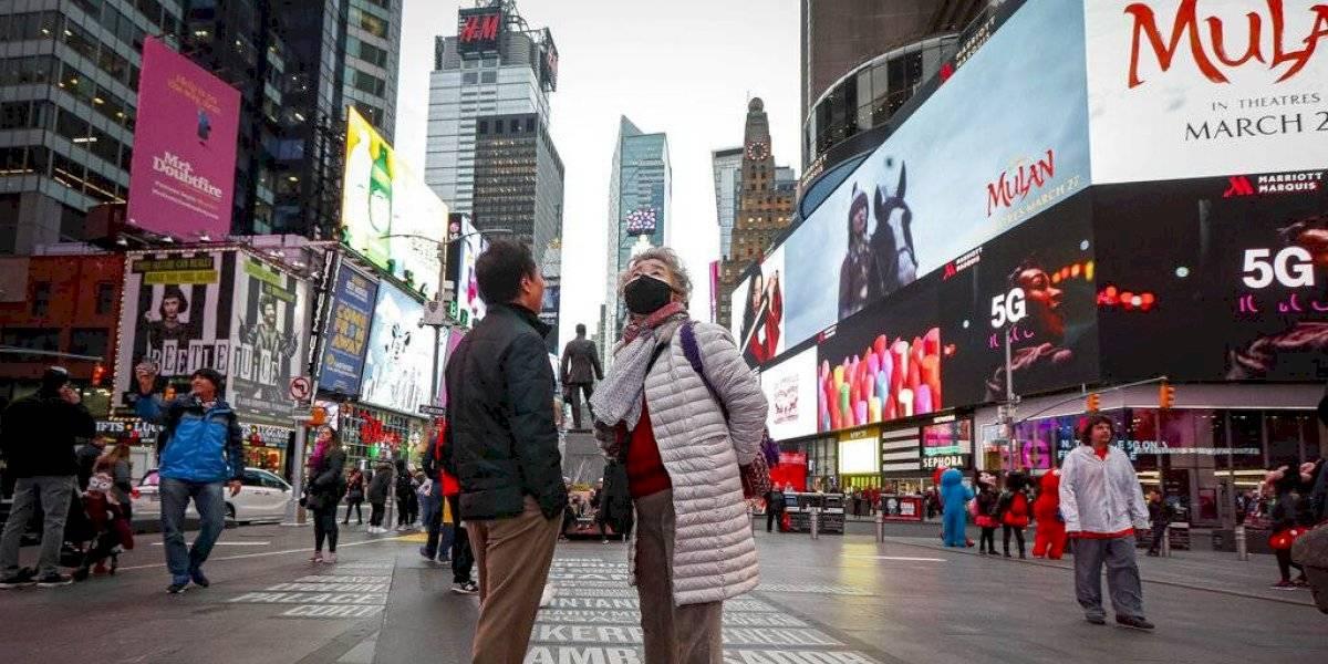 Predominan las calles vacías en Nueva York por pandemia del coronavirus