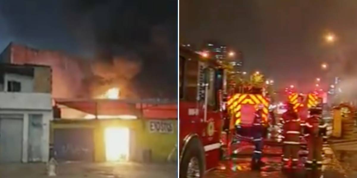Fuerte incendio obligó la evacuación de varias familias en Bogotá