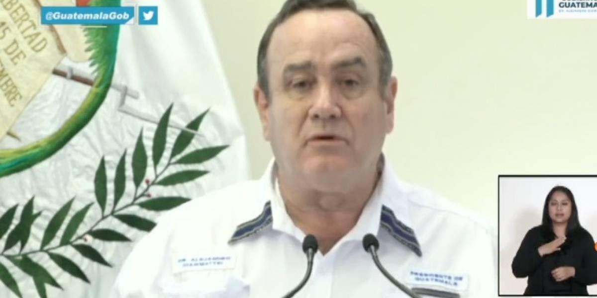 Presidente Giammattei explica plan de contención del coronavirus en Guatemala