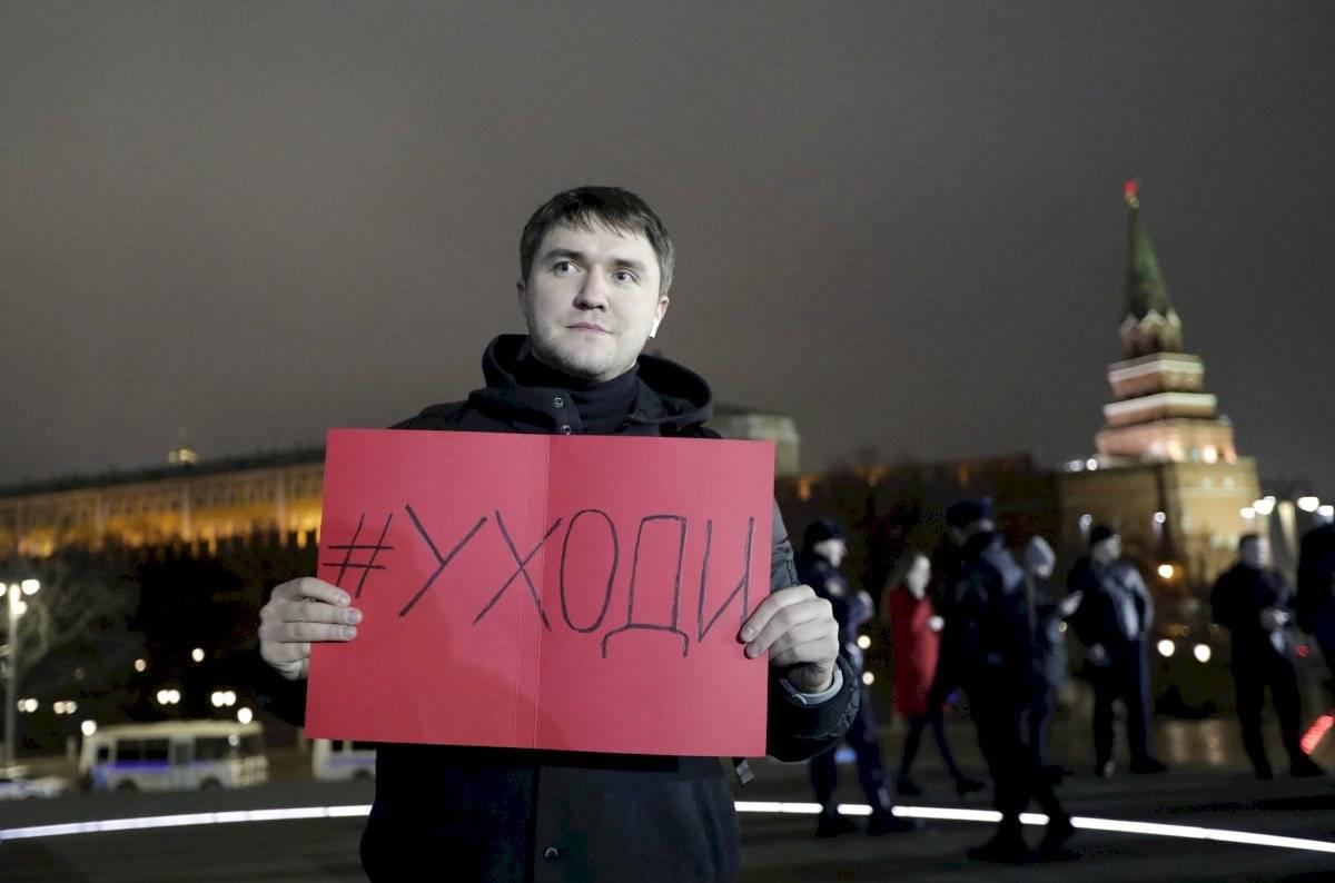 Protestas contra Putin