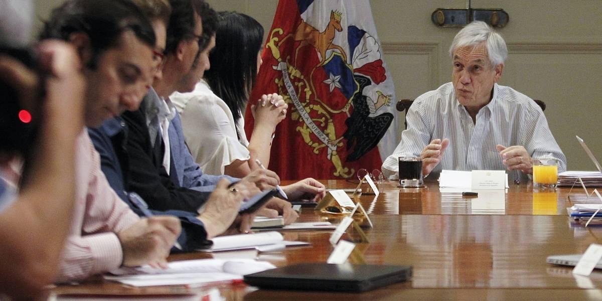 Presidente Piñera se reúne con sus ministros en La Moneda tras anuncio de medidas contra el coronavirus