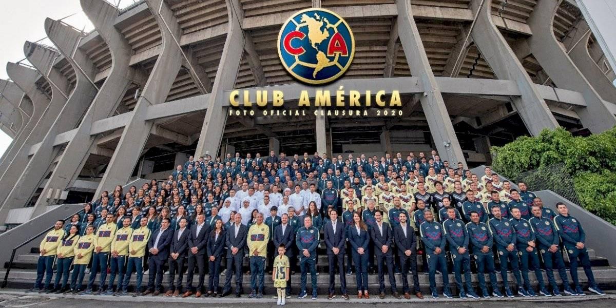 El hermoso homenaje del América a Nicolás Castillo en la foto oficial del Torneo de Clausura de la Liga MX