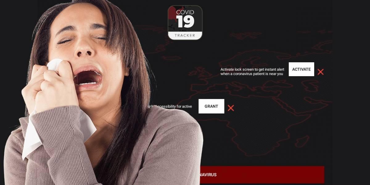 Ransomware: app falsa finge monitorear al Coronavirus pero secuestra tu móvil