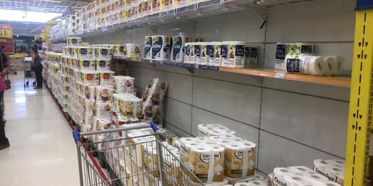 Procura por papel higiênico e macarrão cresce nos supermercados após anúncio de pandemia