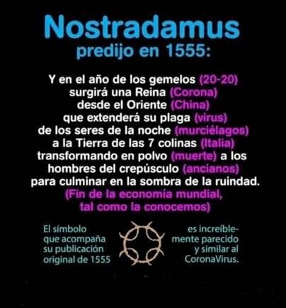 La verdad detrás de profecía de Nostradamus sobre coronavirus