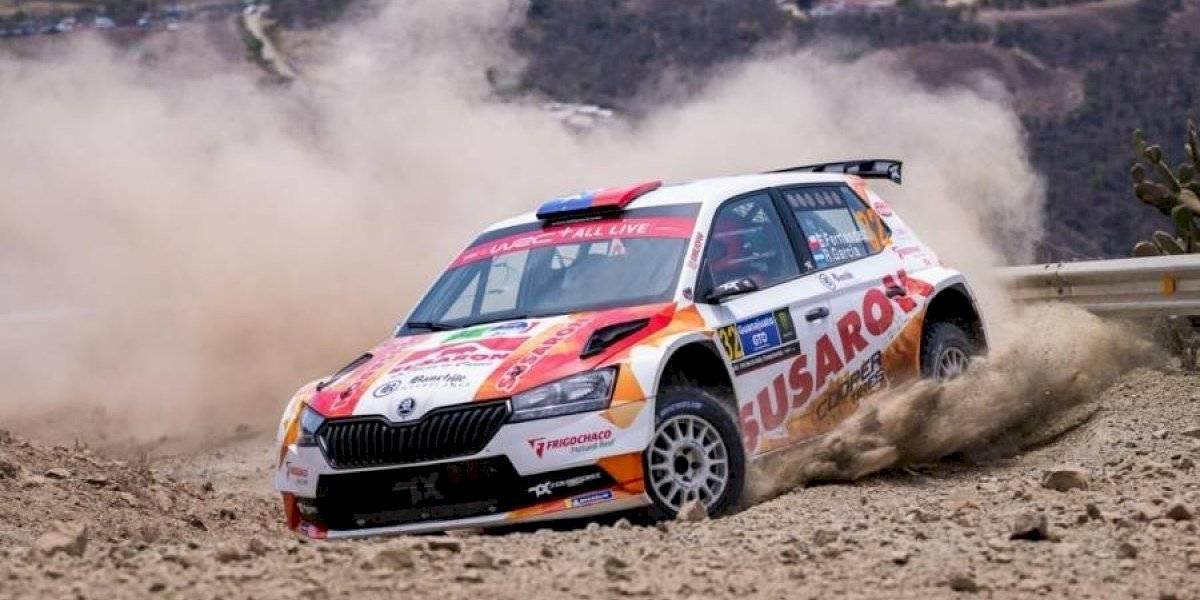 Emilio Fernández se sube al podio en el WRC de México
