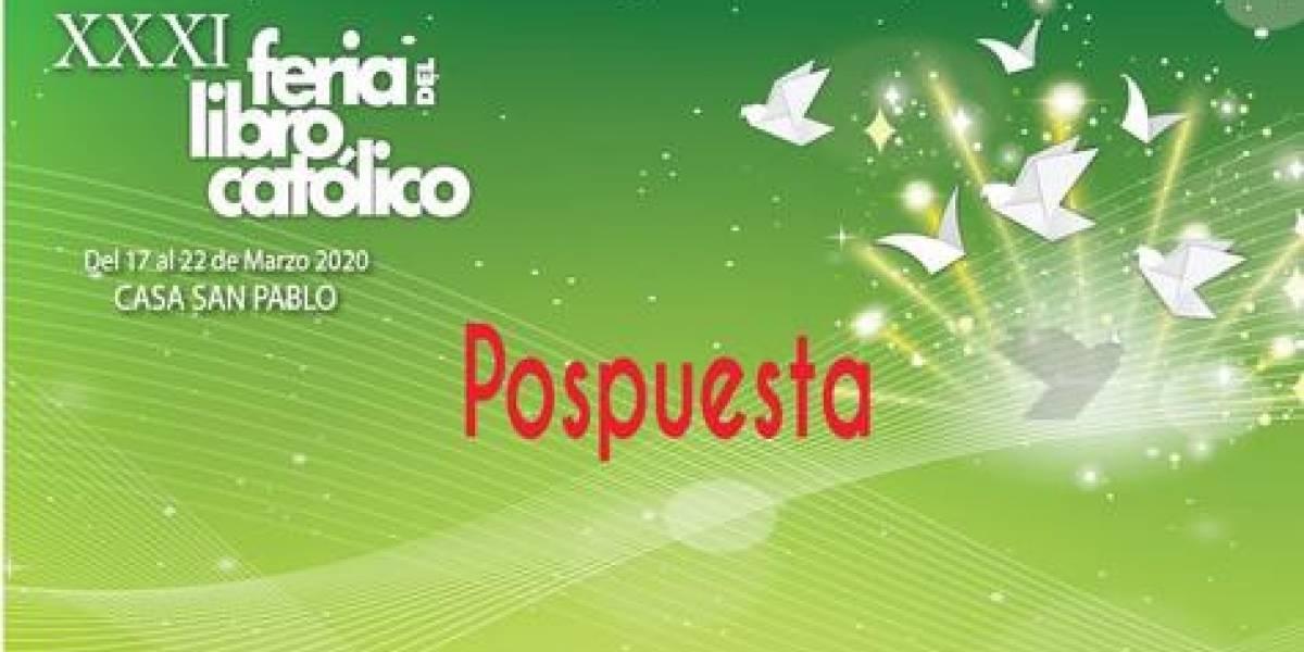 "Posponen ""Feria del Libro Católico"""