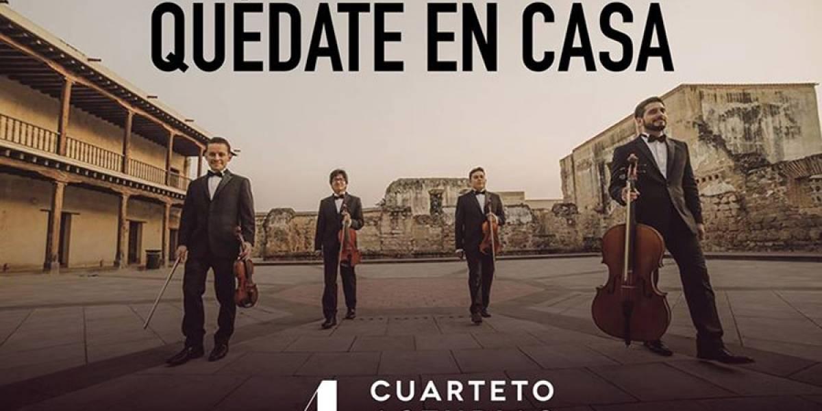 """""""Quédate en Casa"""" y disfruta del concierto virtual del Cuarteto Asturias"""