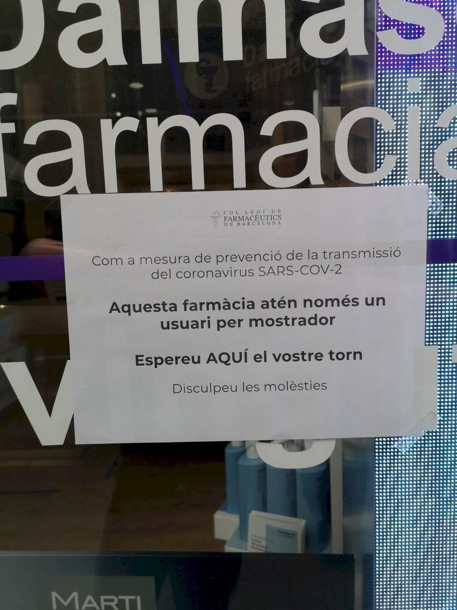 farmacia en barcelona coronavirus