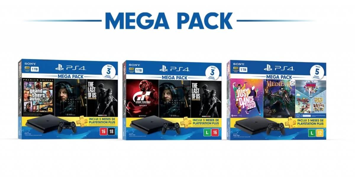 Três novos MegaPacks PlayStation 4 chegam às Lojas neste mês
