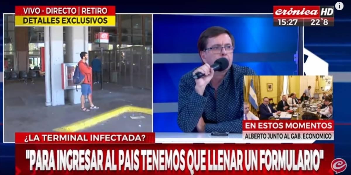 Se lo llevaron detenido: chileno tosió encima de periodista argentino y le dijo que tenía coronavirus