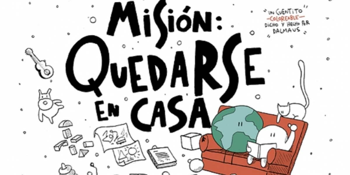 Misión Quedarse en Casa: el cuento coloreable que explica a los niños la importancia de quedarse en cuarentena