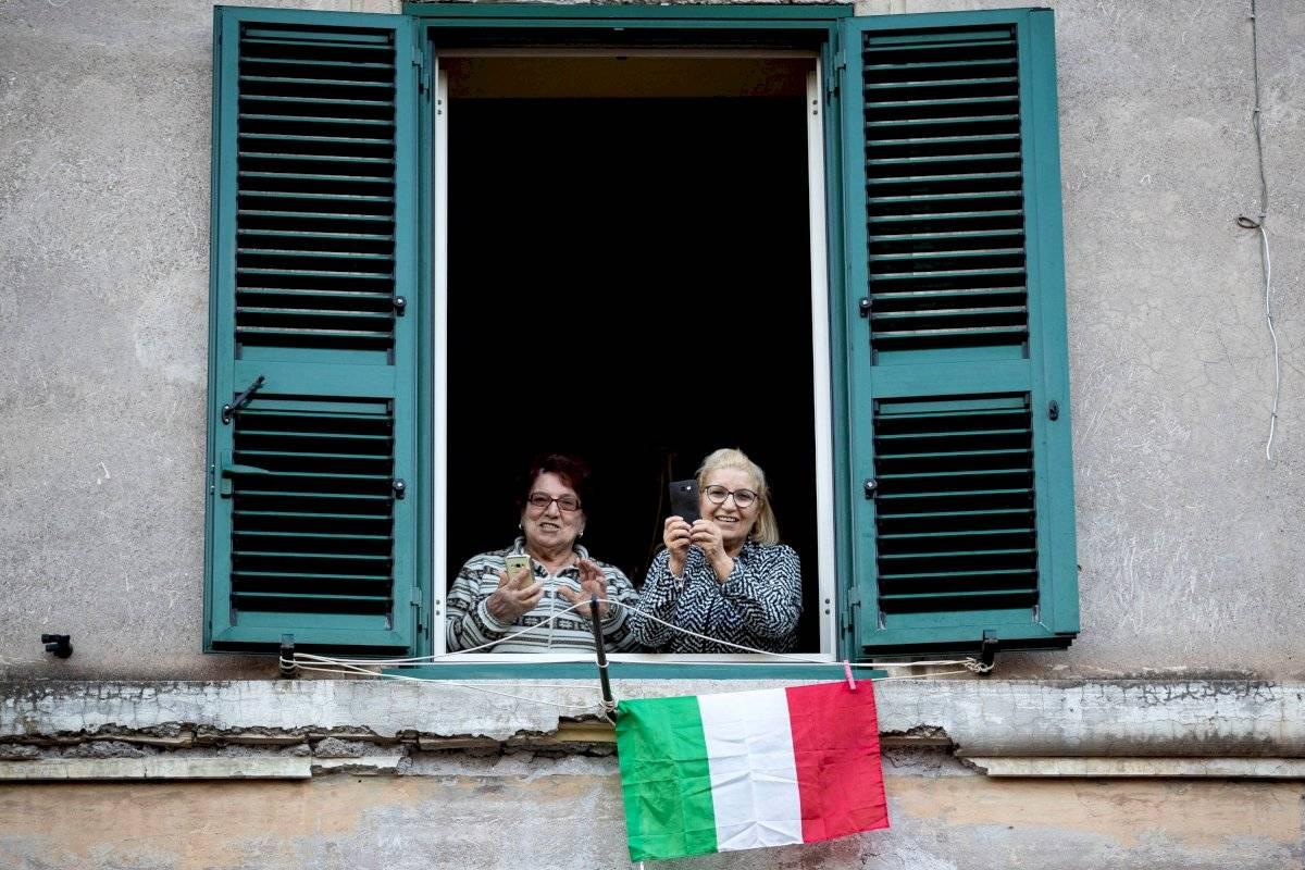Italianos en sus casas