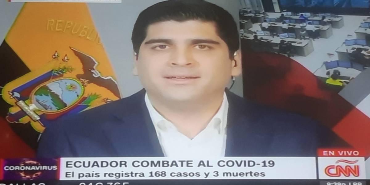 Otto Sonnenholzner  explicó por qué Guayas tiene la mayor cantidad de casos de coronavirus en Ecuador