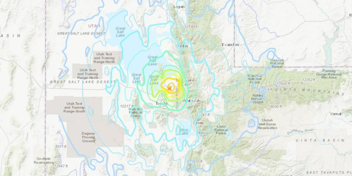 Sismo de magnitud 5.7 sacude el estado de Utah, en EE. UU.