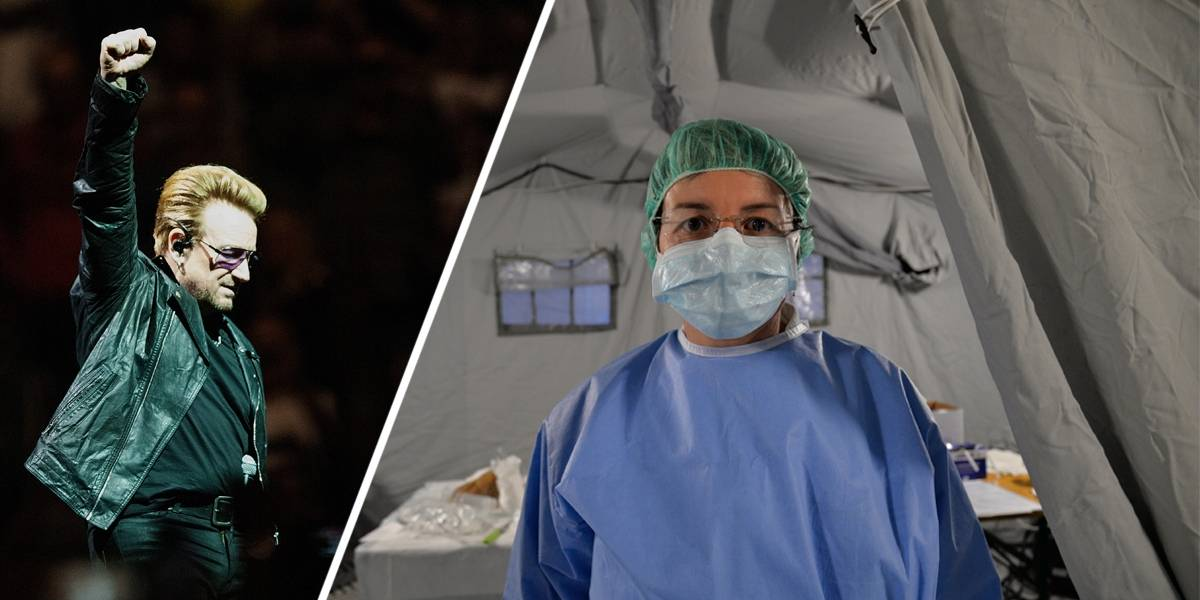 Bono Vox escreve canção em homenagem a profissionais de saúde da Itália