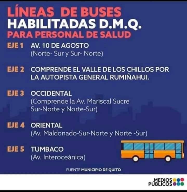 rutas para personal de salud en Quito