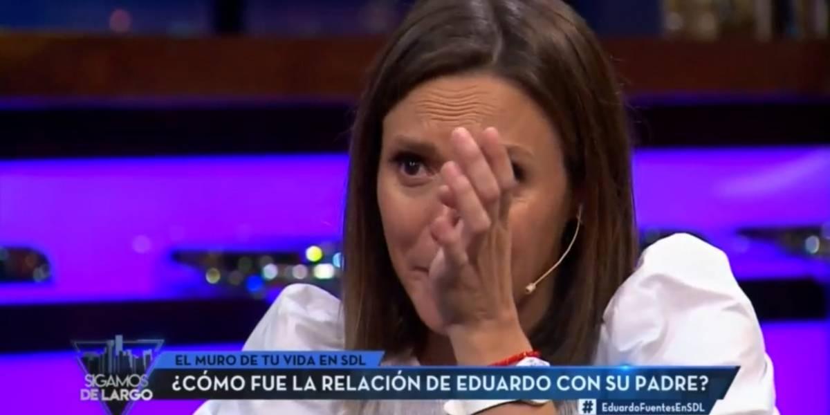 """""""Perdona"""": Eduardo Fuentes hizo llorar a Maly Jorquiera con conmovedora historia de su infancia"""