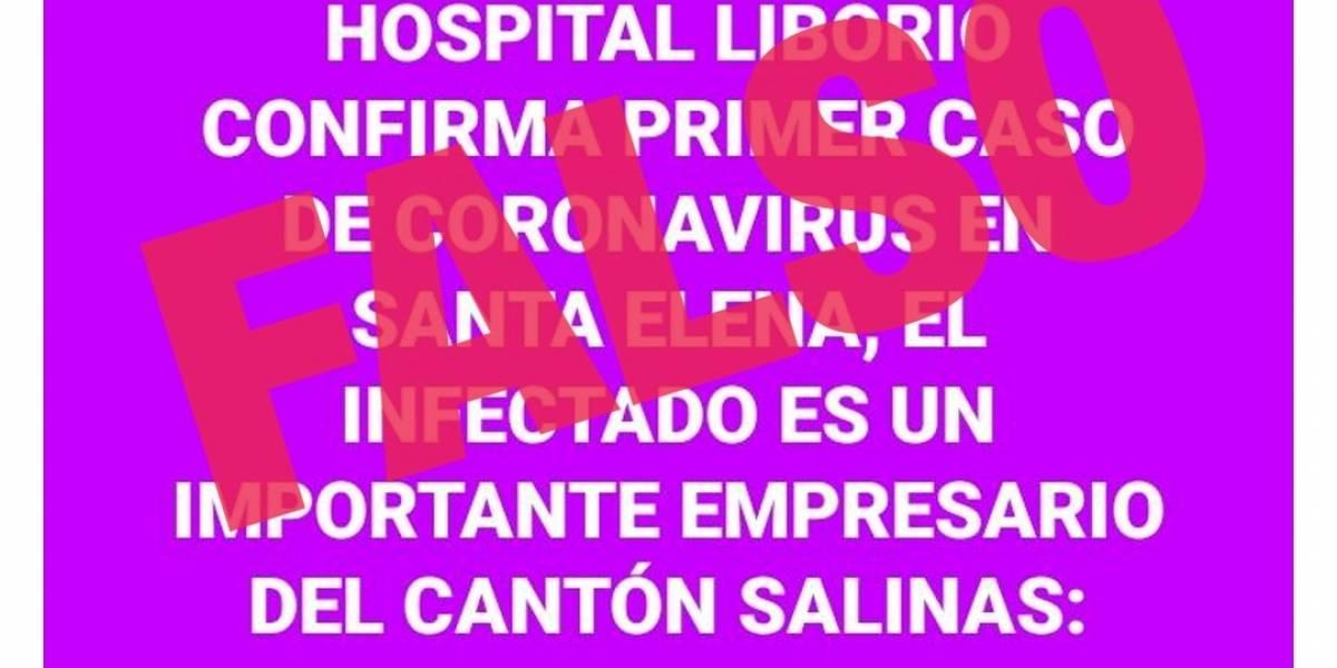 #FakeNews Los audios y fotos falsas sobre coronavirus en Ecuador que circulan en redes