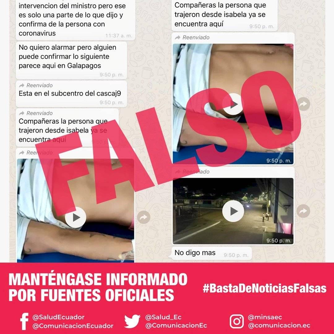 noticias falsas del coronavirus en Ecuador