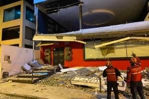 Colapso estructural de restaurante en La Floresta, norte de Quito