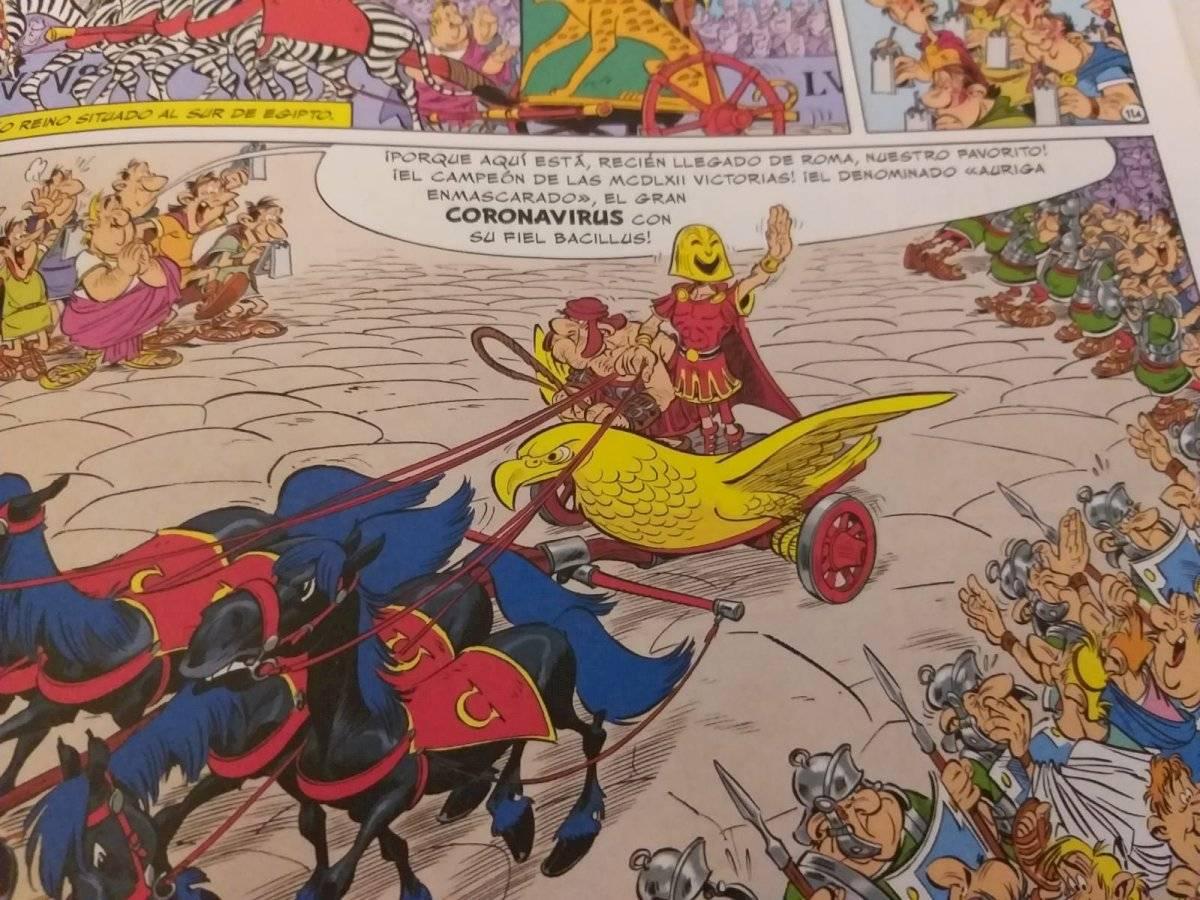 Asterix ya tuvo un encuentro con el coronavirus
