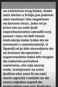 Disculpa pública de Luka Jovic luego de saltarse la cuarentena