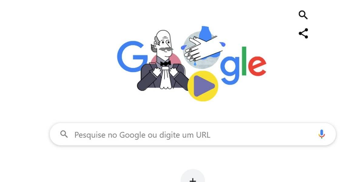 Google lança doodle que ensina a lavar as mãos