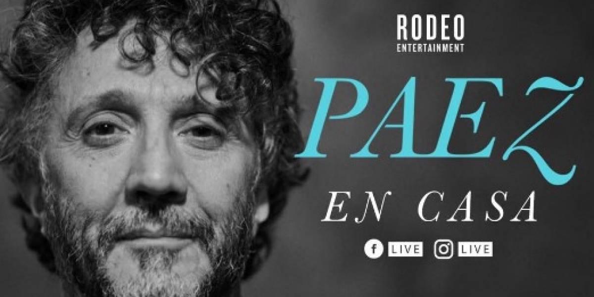 EN VIVO. Fito Páez realiza concierto en línea y pide #QuédateEnCasa