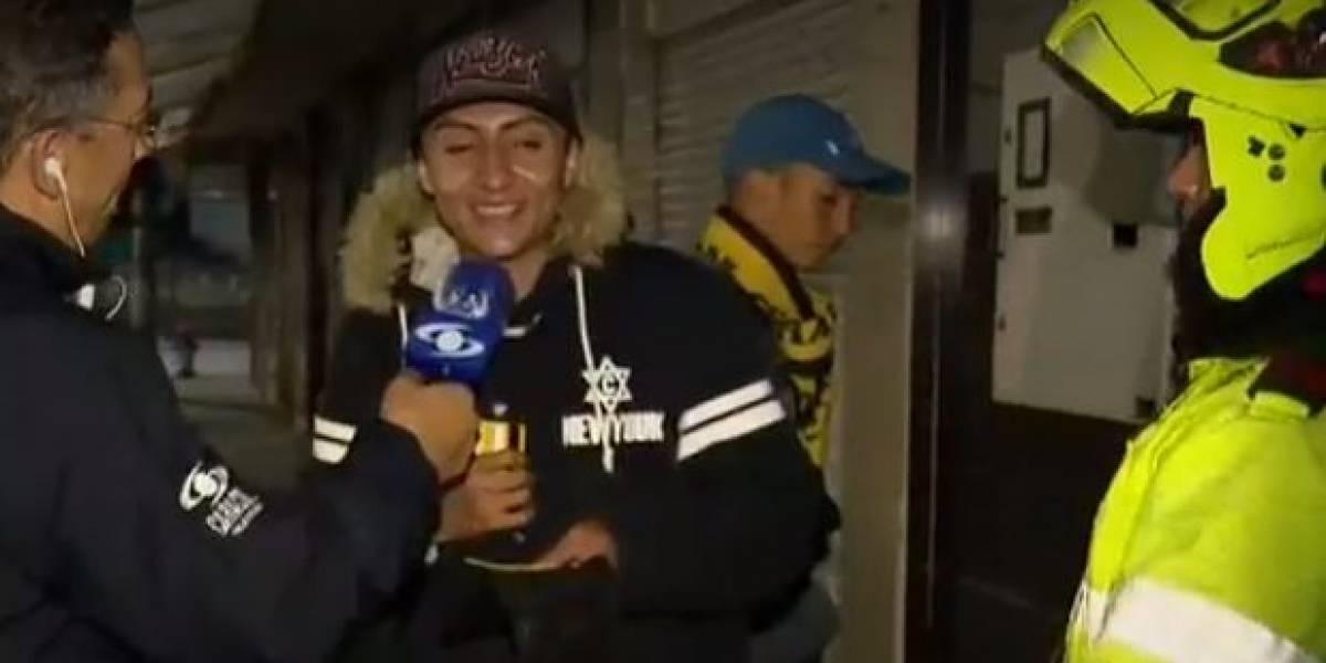 (VIDEO) La indignante respuesta de irresponsable joven que no acató el simulacro de aislamiento en Bogotá