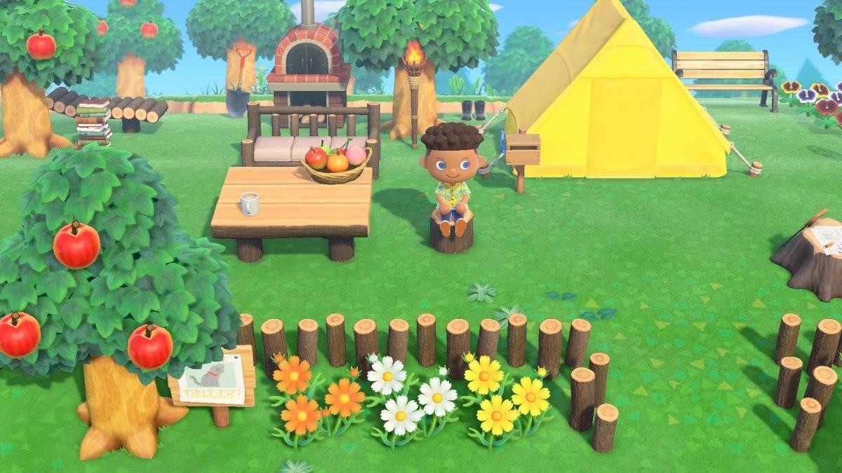 Monte a sua barraca e explore a ilha para deixá-la do seu jeito Divulgação/Nintendo