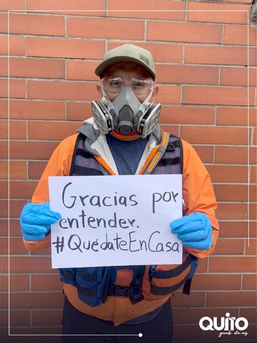 Agentes de Control envían mensaje a los habitantes de Quito