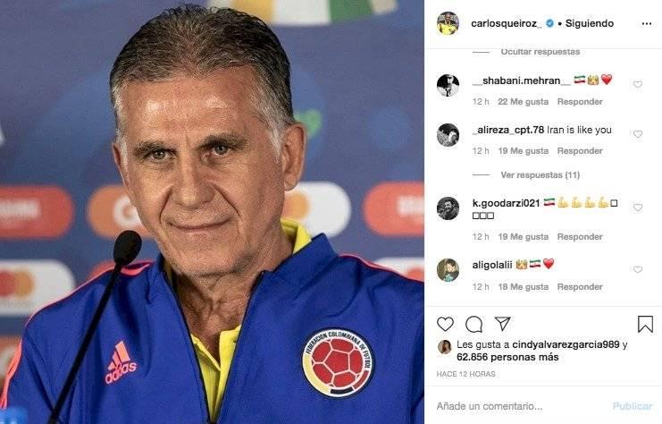 2. Respuestas a Carlos Queiroz por mensaje sobre el coronavirus