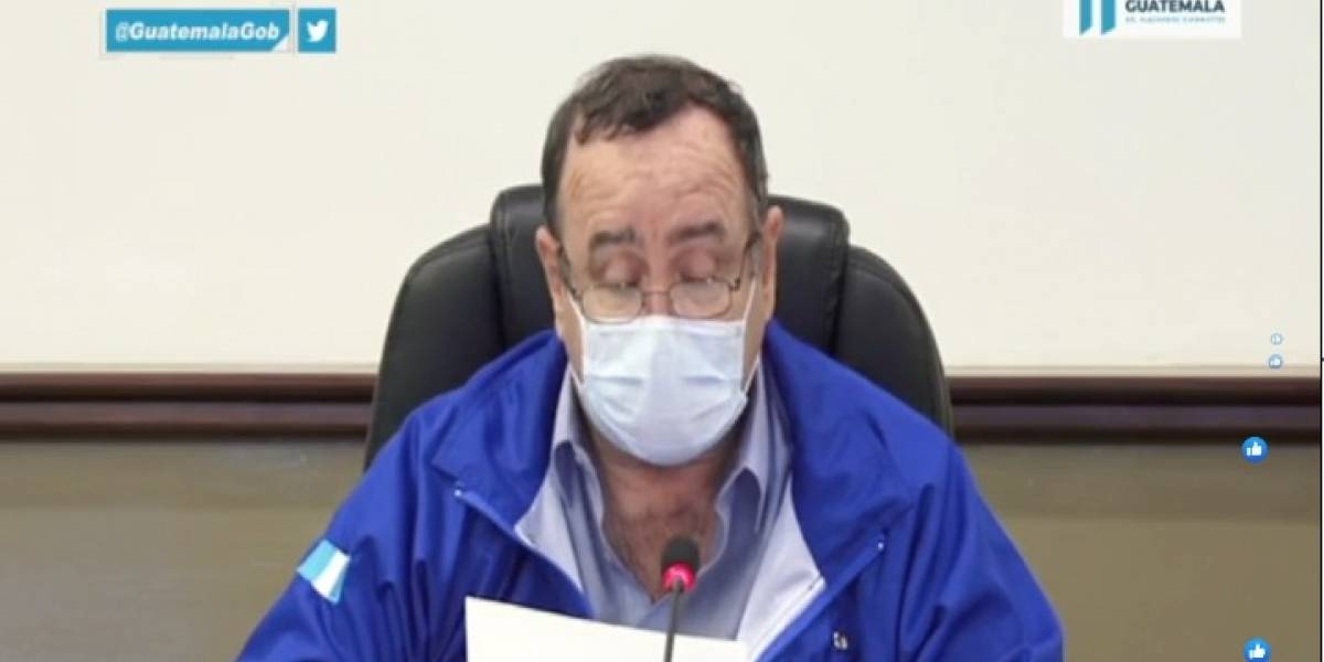 Presidente Giammattei informa las medidas del toque de queda en Guatemala